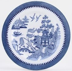 Plate C1934 Minton Willow Pattern Blue China Plates Patterns