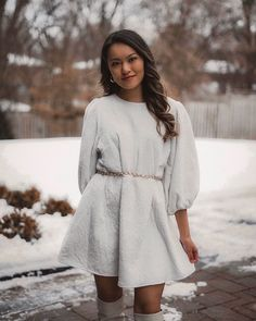 """melissa chau on Instagram: """"Favourite oversized white dress from @lornaluxe's collection 🤍 She's one of the few fashion bloggers I follow as I appreciate her style. If…"""" Fashion In, Fashion Blogger Style, Fashion Bloggers, Dresses Short, Her Style, Appreciation, Personal Style, White Dress, Sweaters"""