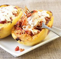 Ingredients: 3 small to medium spaghetti squash (about 5 cups cooked) salt and fresh pepper, to taste 1/3 cup part skim ricotta cheese 2 tbsp grated parmesan cheese 1 tbsp chopped parsley (or basil) 3/4 cup whole milk shredded mozzarella…