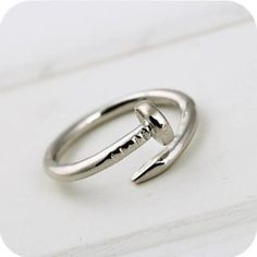 Screw Nails, Ring. To remind me of the nails that Jesus took for me,