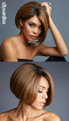 The Fabulous Lace Front Wig is a powerfully sophisticated chin-length bob that demands attention. | voguewigs.com