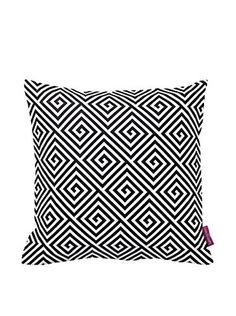 retrokissen dreiecke skandinavische muster geometrie sofakissen schlicht schwarz weiss. Black Bedroom Furniture Sets. Home Design Ideas