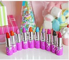 Lime Crime Cosmetics obsessed with their lipstick. Lime Crime Lipstick, Lime Crime Makeup, Crazy Lipstick, Love Makeup, Makeup Tips, Beauty Makeup, Makeup Stuff, Sfx Makeup, Crazy Makeup