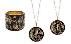 Jennifer Fisher is no stranger to personal touches, but she's celebrating her 10th anniversary with a vintage-inspired enamel collection. Featuring her signature initial pendants, these delicate pieces are future heirlooms. For more information visit jenniferfisherjewelry.com