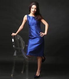Beautiful silk taffeta evening dress  YOKKO | ss16 #silk #taffeta #blue #eveningdress #yokko