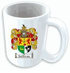 $12.75 Ceramic Mug with Coat of Arms / Family Crest