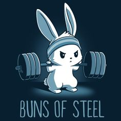 Brötchen aus Stahl - T-Shirt / Herren / S - Cute Things, TeeTurtle - Fitness Cute Animal Drawings, Kawaii Drawings, Cute Drawings, Funny Gym Motivation, Fitness Motivation, Motivation Quotes, Cartoon Mignon, Buns Of Steel, Art Mignon