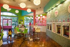 Yum! Inside Sweet Frog Premium Frozen Yogurt @ The Landings -- There will soon be a Sweet Frog across the street from the new AMYL Center iA!