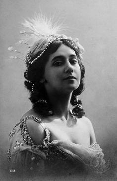 """Tamara Karsavina in her costume for """"Le Pavillon d'Armide"""""""
