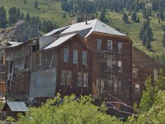 Back side of The Idaho Hotel.  Silver City, ID