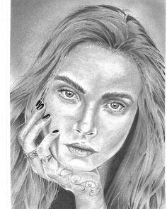 "68 Me gusta, 1 comentarios - @kizzmo_ en Instagram: ""Cara Delevingne Portrait #draw #drawing #painting #paint #sketch #sketch_daily #pencil…"""