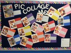 Love that they took their Pic Collages and put them up on a bulletin board.   http://ilessonlady.wordpress.com/2013/09/08/pic-collage-me-a-getting-to-know-you-ilesson/