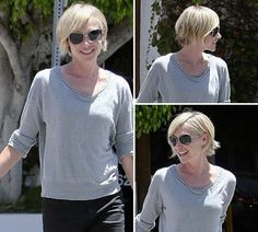 Portia de Rossi new haircut-I actually really like this.  I wonder if I have enough hair to pull it off?