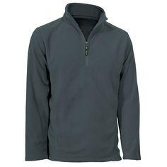 Men's Norbu 1/4 Zip Lightweight Fleece: Grey  S-3XL