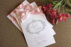 Wedding Programs, textured with Ribbon ceremony program, Antique, Vintage, Elegant, Classic, monogram