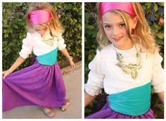 No sew costume ideas. one. #princess #pirate #kids #children #toddler #preschool #prek #kindergarten #diy #creative #craft #tutu #dress #idea #costume #Halloween