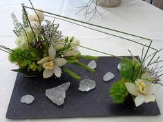 bouquet sur ardoise