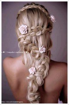 this is like a lush wedding hair do