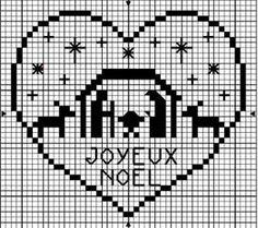 Joyeux Noel nativity cross stitch