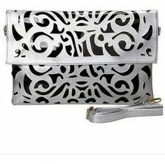 Large Metallic Laser Cut Purse Envelope Style/Clutch.  PU leather. Boutique  Bags Clutches & Wristlets