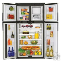 Dometic Elite 2+2 Refrigerator - Dometic RM1350MIM - Side-by-Side Refrigerators - Camping World 12.3cf