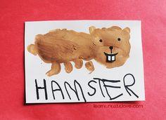 { Handprint Hamster Craft }