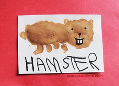 Handprint Hamster Craft for Pets theme