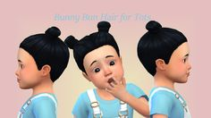 Lana CC Finds - Bunny Bun Hair for Tots