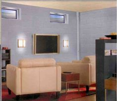 Basement Cinder Block Paint Ideas by Jose Miller Basement Wall Colors, Concrete Basement Walls, Gray Basement, Basement Bedrooms, Concrete Blocks, Basement Bathroom, Cinder Block Paint, Block Painting, Painting Concrete