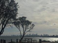 Melbourne city #melbourne #city #ocean #shadows