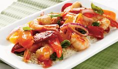 ONE SWEET® Pepper Shrimp with Sweet n' Hot Sauce | SUNSET® Produce