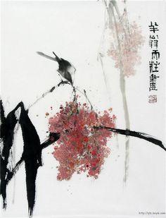 yama-bato: Qin Tianzhu via Japanese Ink Painting, Sumi E Painting, Chinese Painting, Art Chinois, Art Japonais, China Art, Korean Art, Japanese Prints, Japan Art