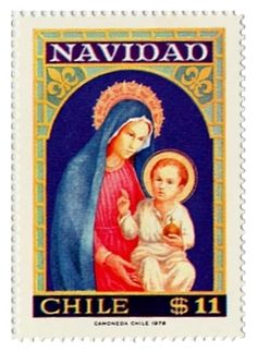 Navidad , Pascua, Christmas , TEMATICAS SELLOS DE CHILE