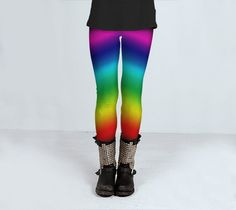 Matching Adults and childrens Rainbow Yoga leggings by ParadoxYoga