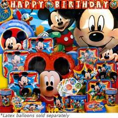Mickey Party    Turn your Mickey birthday party into the Mickey Mouse Clubhouse with Mickey Mouse Party Supplies! Everyone's favorite Disney character springs to life on Mickey party supplies like our Mickey Balloons, Mickey Piñata, and Mickey Mouse birthday invitations. Add Mickey Mouse decorations and bake an adorable Mickey Mouse birthday cake for your Mouseketeer's perfect Mickey Mouse Clubhouse party! For Mickey Mouse birthday ideas and tips see our Mickey Mouse Party Ideas!