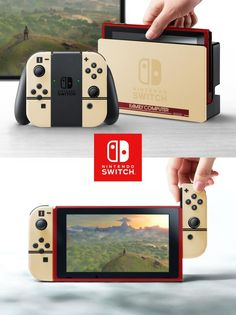 The Nintendo Switch shown in the console's debut trailer is grey. This being Nintendo, though, you can be sure that other shades and variations will be coming. Nintendo Switch Games, Nintendo Games, Nintendo Consoles, Nintendo Lite, Kirby Nintendo, Ps4 Games, News Games, Pokemon Zelda, 3ds Pokemon