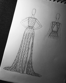 Fashion Drawing Tutorial, Fashion Figure Drawing, Fashion Drawing Dresses, Fashion Illustration Dresses, Dress Design Drawing, Dress Design Sketches, Fashion Design Sketchbook, Fashion Design Drawings, Art Sketchbook