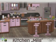 Is there any way to cross borders between differnt worlds? With MILA you can easily cross the borders between the worlds of adults, teenagers and children. Those contrasting elements have found a common ground. Found in TSR Category 'Sims 4 Kitchen Sets' Sims 4 Kitchen, Kitchen Sets, Teenagers, Contrast, Vanity, Children, House, Furniture, Home Decor