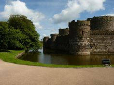 Beaumaris Castle and Moat Life Moves Pretty Fast, Cymru, Wales, Castle, River, Explore, Outdoor, Outdoors, Welsh Country