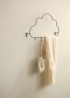 Home decor that's functional, practical, AND adorable? We won't have it any other way! The Cloud Hanger is the cutest way to hang your accessories and towels, so check it out! ^.~*