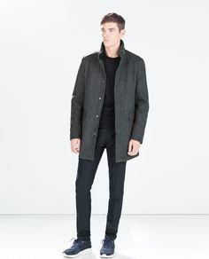 ZIP NECK COAT-Coats and Trench coats-MAN | ZARA Spain