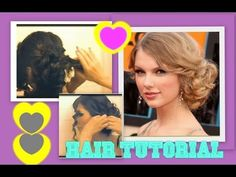 ▶ ★ TAYLOR SWIFT HAIR TUTORIAL | CUTE HAIRSTYLES | CURLY MESSY BUN UPDOS for MEDIUM LONG HAIR | PROM - YouTube