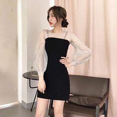 48 Ideas Skirt Korean Style Midi For 2019 Korean Fashion Dress, Korean Dress, Ulzzang Fashion, Korean Outfits, Fashion Dresses, Cute Skirt Outfits, Cute Dresses, Girl Outfits, Stylish Dresses