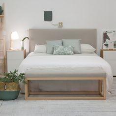 Small Flat Decor, Bed Frame And Headboard, Cozy Room, Minimalist Bedroom, Bedroom Styles, New Room, Bedroom Decor, Interior Design, Home Decor