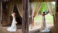 Heather Durham Photography • Birmingham, Alabama & Beyond • Southern Weddings • Bridal Portraits in a Barn • The Sonnet House Leeds Alabama  http://www.heatherdurhamphotography.com
