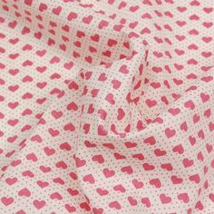 Hearts and Dots Pink Cream 112cm