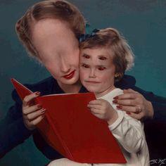 "theblacknurse: "" The Demonic Moving Portraits of Brandon Muir """