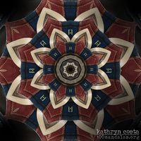 Kaleidoscope Mandala - The original photo was of bowling shoes.