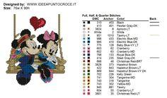 Mickey & Minnie on swing 2 of 2