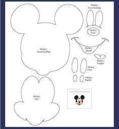 Moldes - Minnie e Mickey Mouse Mickey Minnie Mouse, Mickey Mouse Template, Mickey Mouse Ornaments, Mickey Mouse Birthday Cake, Disney Mickey, Mickey Mouse Printable, Mickey Craft, Mickey Mouse Crafts, Silhouette Mickey Mouse